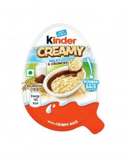 kinder creamy milk, crunchy 19 g