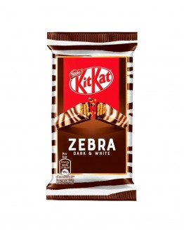 kit kat Zebra dark & white chcolate 41.5g