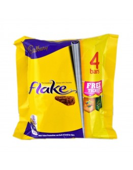 Cadbury Flake Chocolate Bar 4 packs, 80 gram.