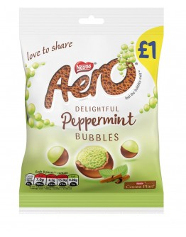 nestle aero mint bubbles milk chocolate 80 g