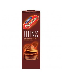 Mcvities Thins Milk Chocolate Biscuits 180G