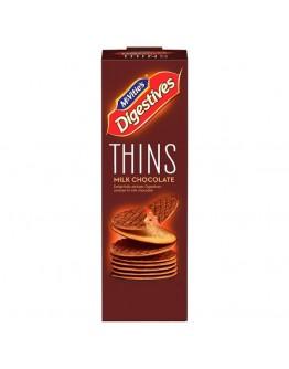 Mcvities Thins Milk Chocolate Biscuits 180G