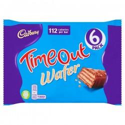 Cadbury Timeout Wafer Bar 6 Pack 127.2g
