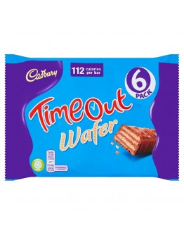 Cadbury Timeout Wafer Bar 6 Pack 127.2g