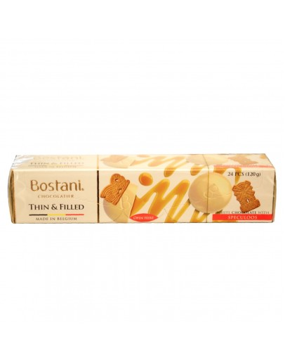 BOSTANI WHITE CHOC THINS SPECULOOS 120G