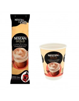 Nescafé Gold Cappuccino Coffee Sleeve of 8 cups, 17. 5 g and 140 g.
