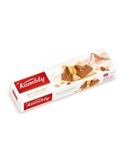 Kambly Matterhorn Butter Milk Choco With Nougat 100G
