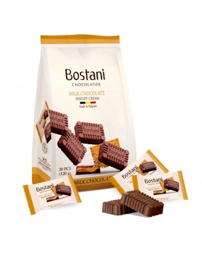 Bostani Chocolatier Milk Chocolate Biscuit Cream 120g