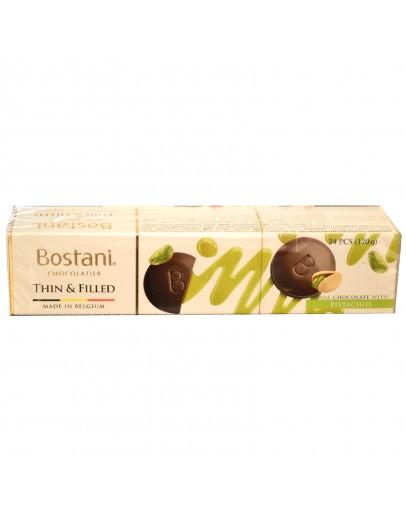 Bostani Dark Choc Thins Pistachio 120g