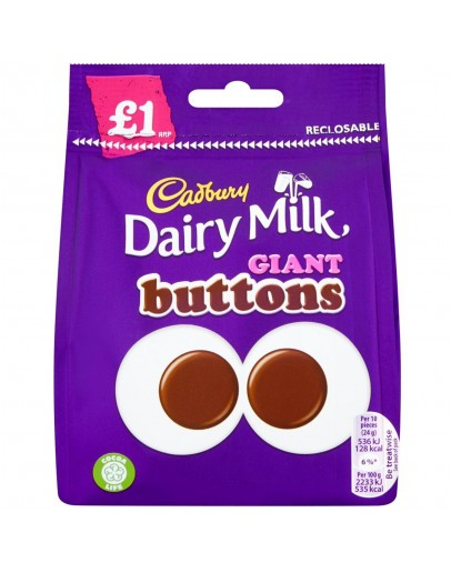 Cadbury Dairy Milk Giant Buttons 1p 95g