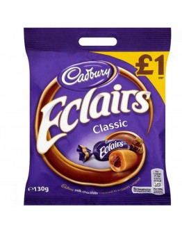 Cadbury Eclairs Classic  Chocolate Bag 130g