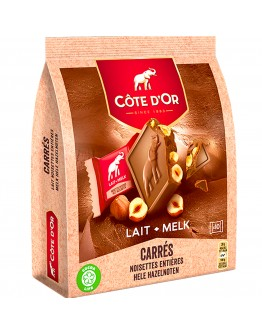 Cote D'or carres milk Chocolate with Hazelnuts 200g