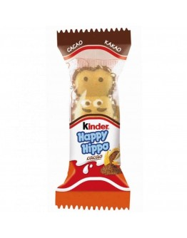 Ferrero Kinder Happy Hippo Cocoa Cream Biscuits Germany 20.7 G