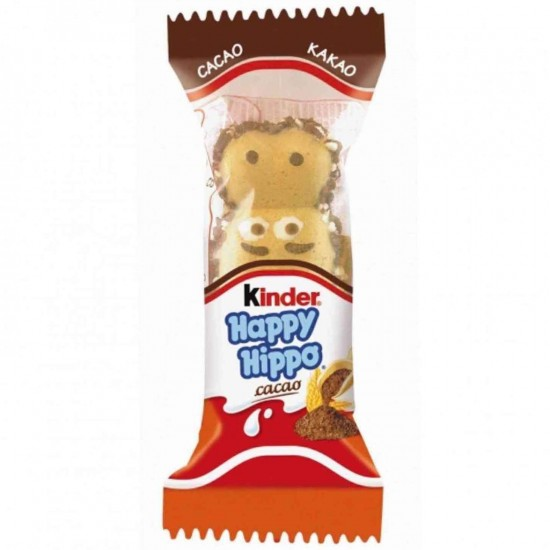 Ferrero Kinder Happy Hippo Cocoa Cream Biscuits Germany 20.7 G