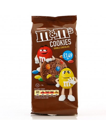 M&M Cookies Double Chocolate 144g