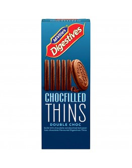 McVities Digestives Chocolate Filled Thins Double Chocolate 130g