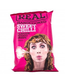 Real Handcooked Sweet Chilli Patato Crisps  150g