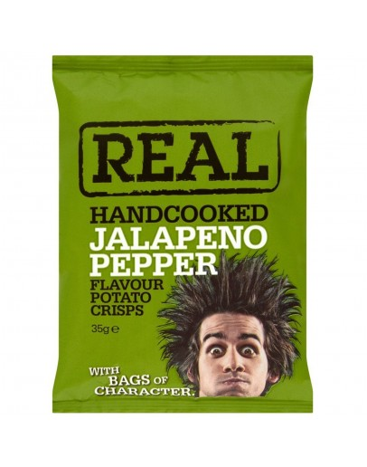 Real Handcooked jalapeno pepper patato crisps  35G