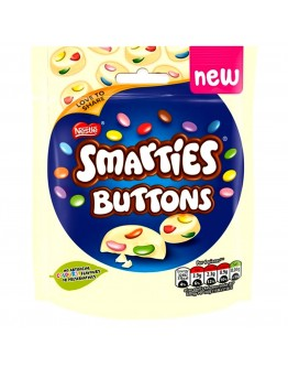 Smarties Buttons White Chocolate Pouch 85G