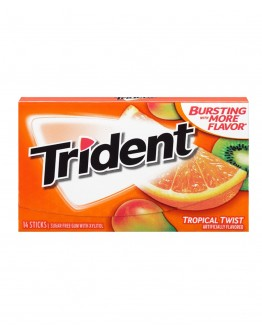 Trident Tropical Twist Sugar Free 36g