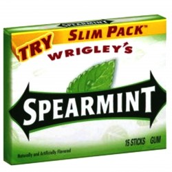 GUM WRIGLEY SPEAR MINT 15 STICK 80g