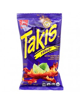 Takis Fuego Hot Chili Pepper & Lime Tortilla Chips 56g