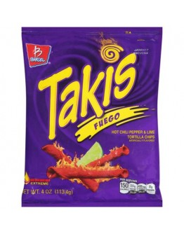 Takis Fuego Hot Chili Pepper & Lime 113.4g