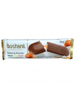 Bostani Chocolate Thins& Filled Dark Chocolate With Salted Caramel 24g