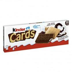 Kinder milk chocolate cards 128 g